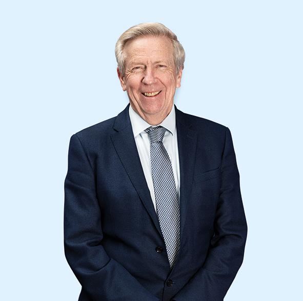 A large portrait of Ron Marsh
